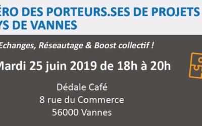 Mardi 25 juin 2019 : Apéro des porteurs.ses de projets ESS du Pays de Vannes