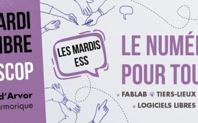Mardi 17 septembre à 18h30 à Plescop : Mardi ESS sur le numérique pour tous !