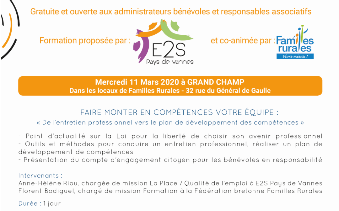REPORTÉE – Le 11 mars prochain : Formation sur la fonction employeur #3