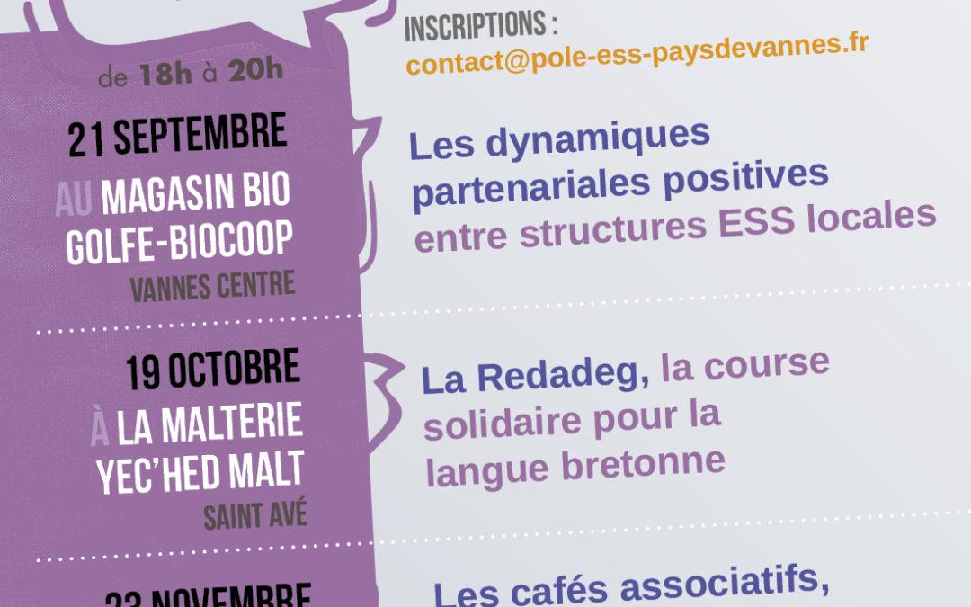 Les MARDIS ESS, les RDV mensuels de l'ESS sur le Pays de Vannes